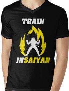 Train Insaiyan Mens V-Neck T-Shirt