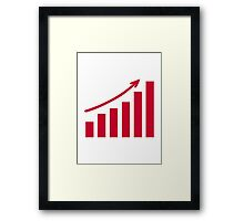 Chart growth profit Framed Print