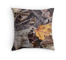 Bright Fall Leaf Throw Pillow