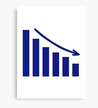 Diagram chart loss Canvas Print