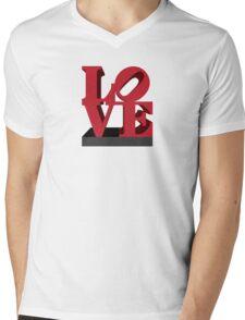 LOVE sculpture Mens V-Neck T-Shirt