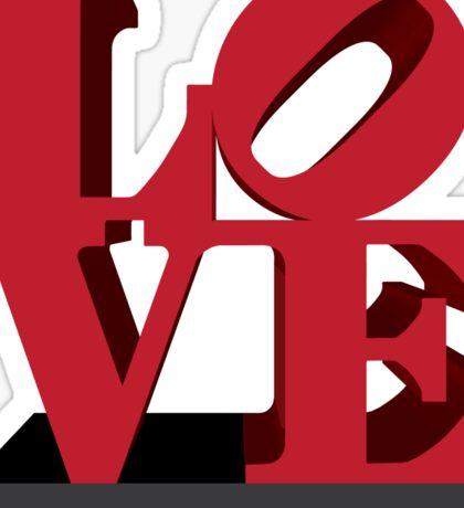 LOVE sculpture Sticker