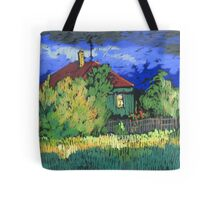 Late evening in a Russian village Tote Bag