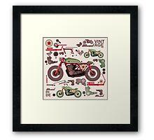 my custom motorbike Framed Print
