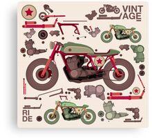 my custom motorbike Canvas Print