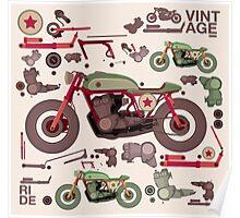 my custom motorbike Poster