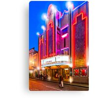 Neon Dreams - Mérida Theater Marquee Canvas Print