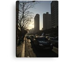 Afternoon near Jangsan Station in winter Canvas Print