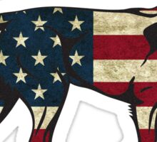 American Flag Dog Sticker Sticker