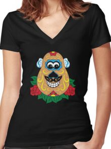 Day of the Spud Women's Fitted V-Neck T-Shirt