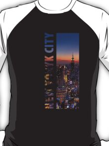 Typography City Skyline: New York City T-Shirt