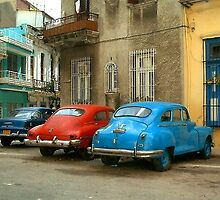 3 Cuban cars by IngridSonja
