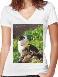 Mary Le Chat Women's Fitted V-Neck T-Shirt