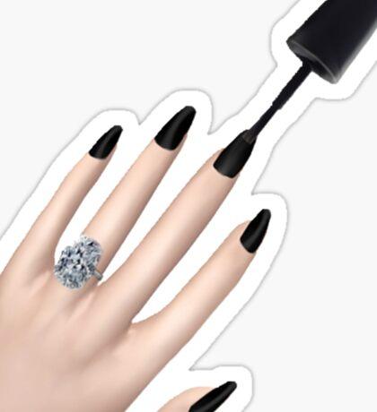 Black Nails Emoji (V2) Sticker