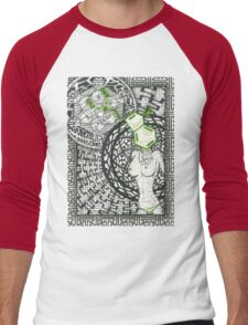 Geo DMT Men's Baseball ¾ T-Shirt