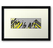 The Masculine Collection - this is art Framed Print