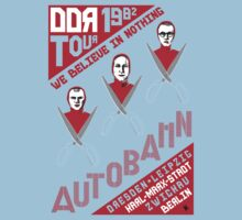 Autobahn 1982 East German Tour T-Shirt Kids Clothes