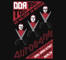 Autobahn 1982 East German Tour T-Shirt Baby Tee