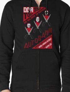 Autobahn 1982 East German Tour T-Shirt Zipped Hoodie