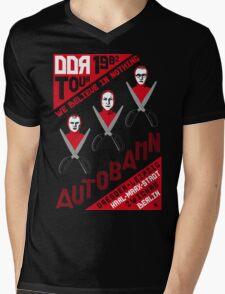 Autobahn 1982 East German Tour T-Shirt Mens V-Neck T-Shirt