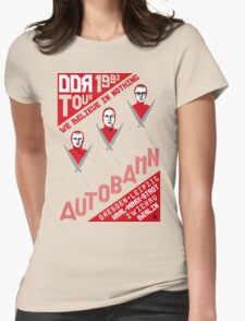 Autobahn 1982 East German Tour T-Shirt Womens Fitted T-Shirt