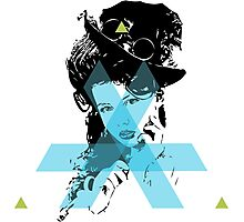 Hopeless Pinup Blue Triangle Dreamer Photographic Print