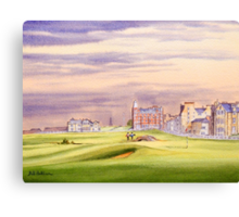 Saint Andrews Golf Course 17Th Green Canvas Print