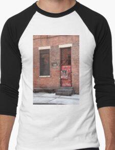Brooklyn, New York, 126 Front Street Men's Baseball ¾ T-Shirt