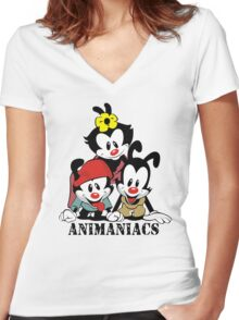 Animaniacs - cartoon Women's Fitted V-Neck T-Shirt