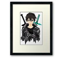 Sword Art Online Front Kirito Framed Print