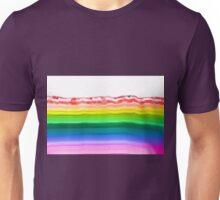 Rainbow colors agate slice mineral Unisex T-Shirt