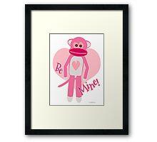 Valentine Sock Monkey Framed Print