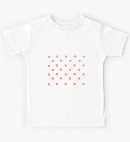 Pastel Orange Polka Dots Kids Tee