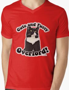 Cute Fuzzy Overlord Mens V-Neck T-Shirt