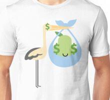 Stork with Baby Pear Emoji Money Unisex T-Shirt