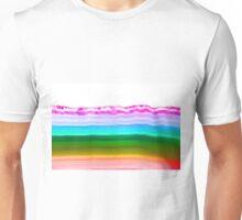 Fancy rainbow colors agate slice mineral Unisex T-Shirt