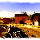 Red Barn Easton, New England by watermark