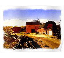 Red Barn Easton, New England Poster
