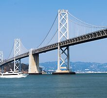 Cruising under the San Francisco – Oakland Bay Bridge by Reese Ferrier