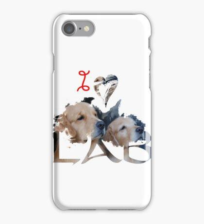 I Love Lab , Labrador Retriever , Lab iPhone Case/Skin