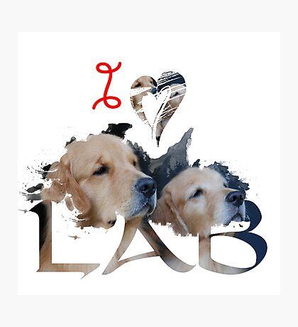I Love Lab , Labrador Retriever , Lab Photographic Print