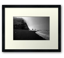 Reynisfjara Beach and the Trolls Framed Print