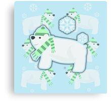 Sassy Polar Bears Canvas Print