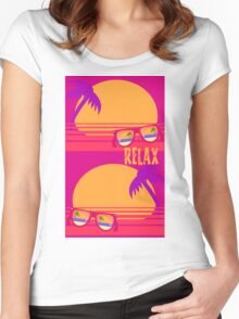 Relax at Sunset Women's Fitted Scoop T-Shirt