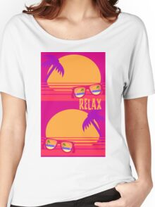 Relax at Sunset Women's Relaxed Fit T-Shirt