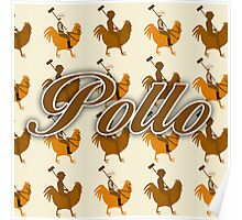 Pollo Pattern  Poster