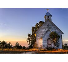 Country Church at Sunrise Photographic Print
