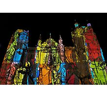1 illuminations Cathédrale de Poitiers Par kolektifalambik.net - Photos  panasonic fz 2000 par Okaio Créations Photographic Print
