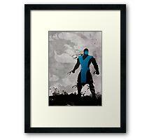 Mortal Kombat Inspired Sub-Zero Poster  Framed Print