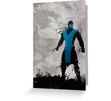 Mortal Kombat Inspired Sub-Zero Poster  Greeting Card